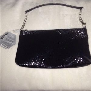 Handbags - Black Glitzy Wristlet/Clutch